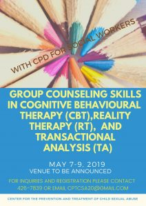 Group Counseling Skills in Cognitive Behavioural Therapy (CBT), Reality Therapy (RT) and Transactional Analysis (TA)